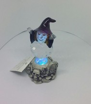 NEW Halloween Acrylic Witch with LED Color changing Lights Figurine Skul... - $14.95