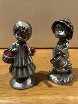 80 81 Hallmark Little Gallery Pewter Figurine Drummer Boy Little Red Riding Hood - $22.24