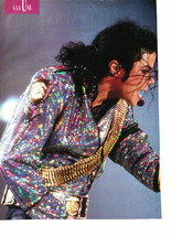 Michael Jackson teen magazine pinup clipping sparkly jacket on stage Teen Beat