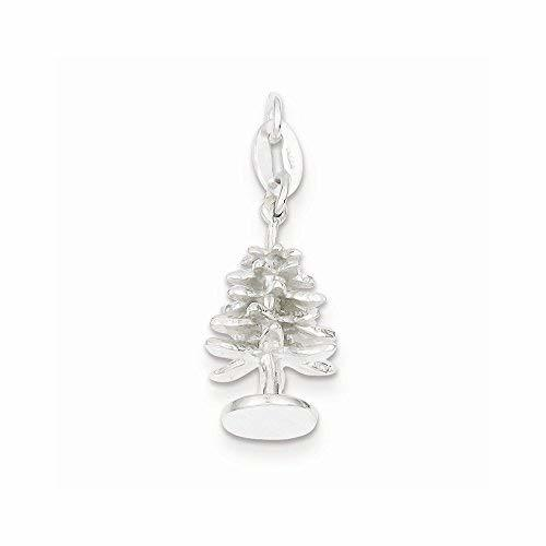 Primary image for Sterling Silver Polished Tree Charm, Best Quality Free Gift Box