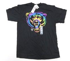 NWT NFL Team Apparel Chicago Bears Black w/ Rainbow Graphic T-Shirt Men's Size L image 1