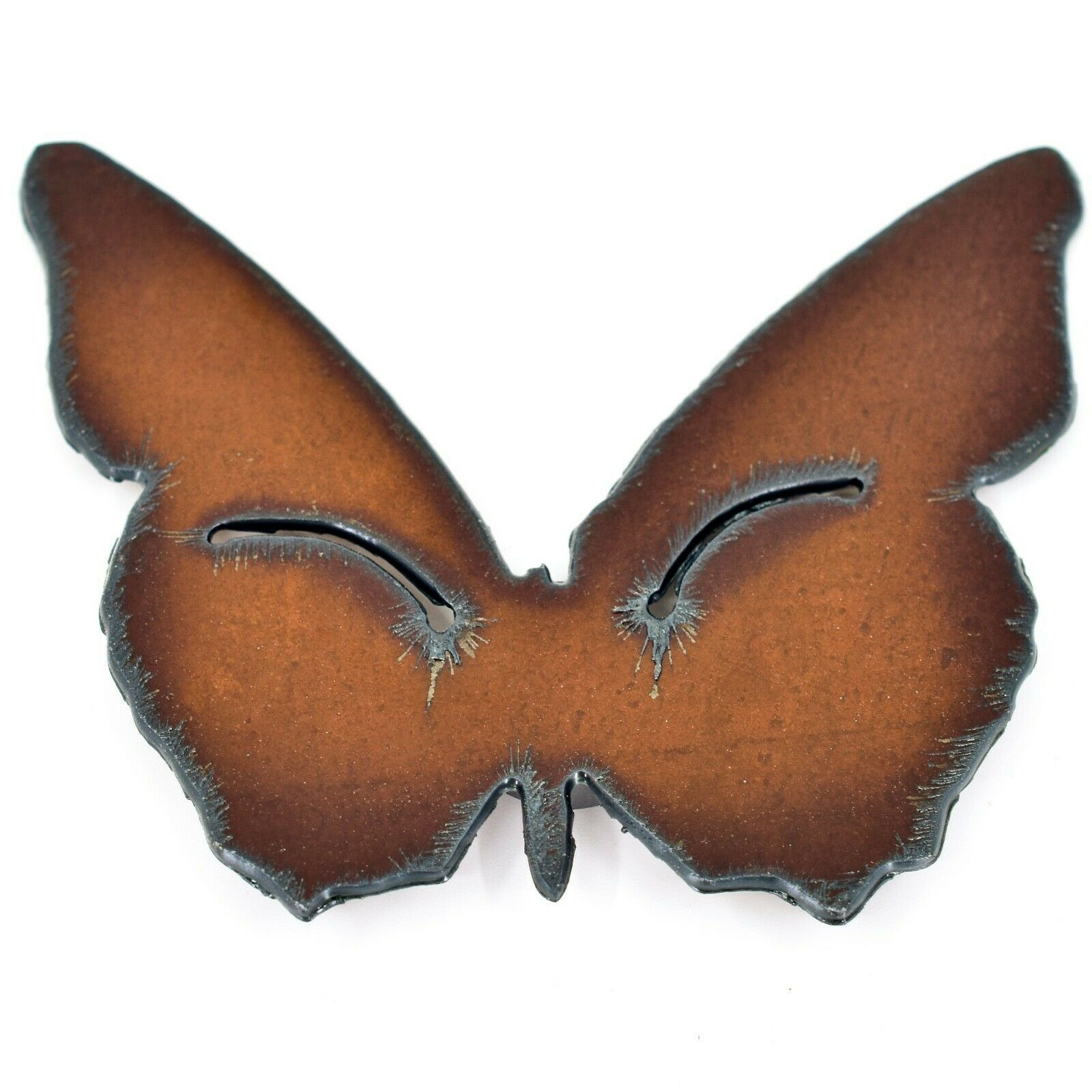 "Rustic Rusted Patina Iron Metal Cutout Butterfly 3"" Refrigerator Fridge Magnet"