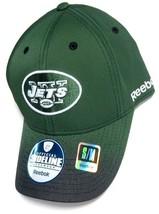 New York Jets NFL Reebok Sideline Hat Cap Green w/ Black Spray Flex Fit S/M - €13,32 EUR