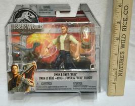 Jurassic World Owen & Baby Blue Mattel Action Figures Toys Movable NIB 2017 - $9.89