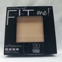 Maybelline Fit Me Set + Smooth 130 Buff Beige Full Size Normal-Dry Skin Pressed - $9.90