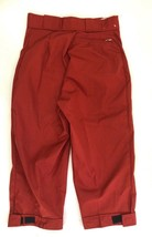VTG 70s Sunbuster Womens Size 28 Cropped Ski Pants Knickers Brick Red image 2