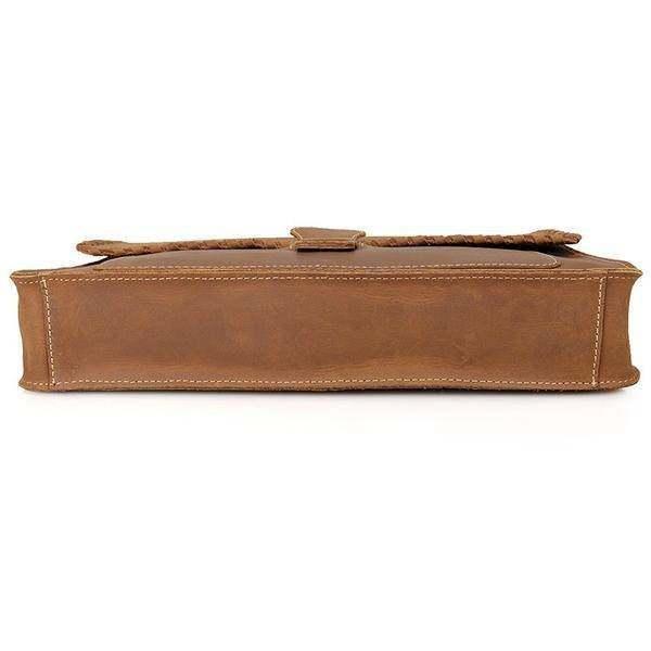 Sale, Vintage Messenger Bag, Leather Messenger Bag, Men's Fossil Messenger Bag image 5