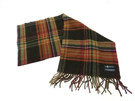 90s Polo Ralph Lauren Winter Scarf Multi-Colored Plaid Pattern 100% Lamb... - $34.60