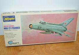 Vintage HASEGAWA MIG-21 FISHBED Model Kit USSR Jet Fighter Plane 1:72 Scale - $14.71