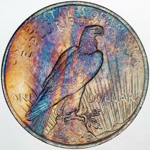 1923-P PEACE SILVER DOLLAR UNIQUE MULTI COLORED BU UNC PRIME APPEAL (MR) - $197.99