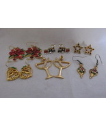 Lot of Christmas/Holiday Pierced Earrings - Rhinestones, Enameling, Faux Pearls - €9,69 EUR