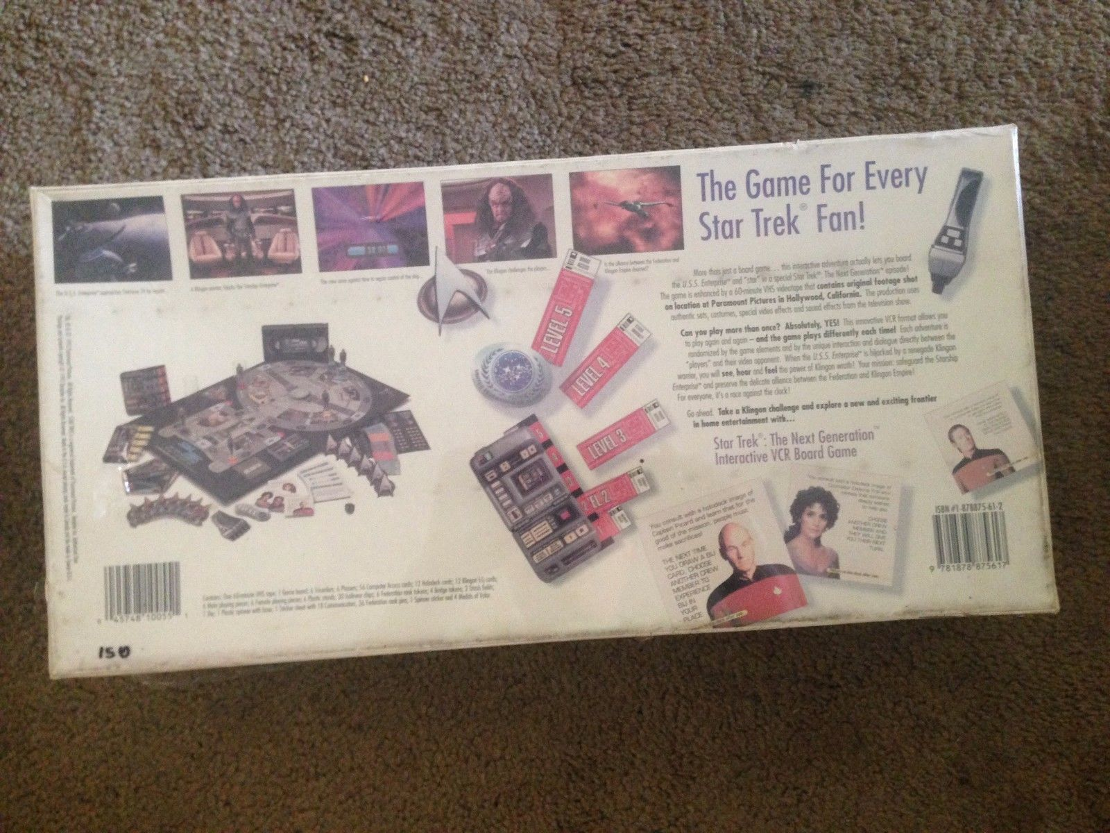 Star Trek : The Next Generation - Interactive VCR Board Game - Paramount 1993