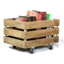 Vintage Wooden Crates on Casters - $35.00