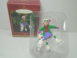 Hallmark Keepsake 1990 Maxine On Thin Ice Christmas Ornament With Origin... - $10.39