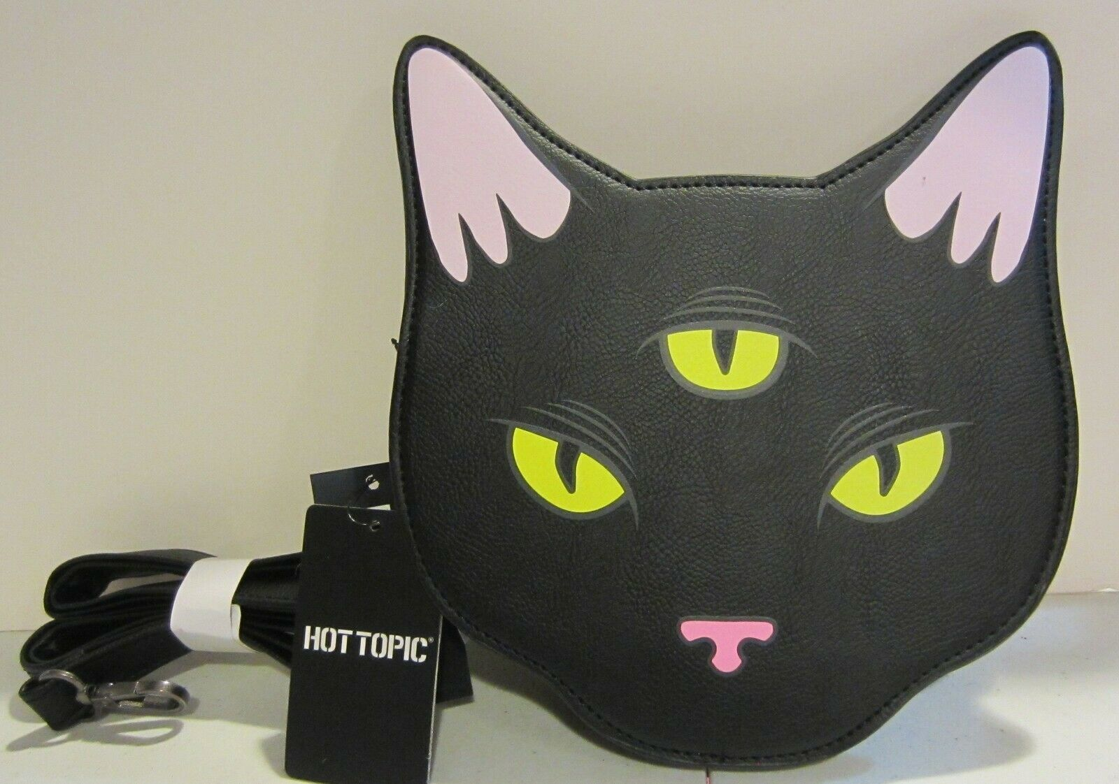 Primary image for loungefly three eyed cat cross body purse NWT