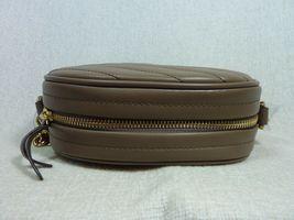 NWT Tory Burch Classic Taupe Kira Chevron Small Camera Bag $358 image 7