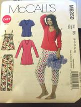 McCalls M6250 Misses Top Nightshirt Pants Size 8-16 U/C Sewing Pajamas Pattern - $12.71