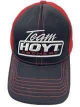 Team Hoyt Archery Black Red Adjustable Adult Ball Cap Hat - $15.83