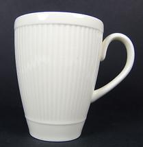 2 Windsor Wedgwood Mugs Cups Ribbed Made in England Ivory Cream - $17.81