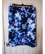 Women's Liz Claiborne Xanadu Orchid Scuba Skirt Size 3X New Blue Purple - $28.70