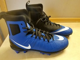 NWOT Nike Force Size 10 Football Cleats Blue Black - $29.99