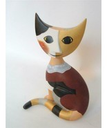 "Goebel Porcelain Modernist Cat Figurine Rosina Wachtmeister Stella 6.5"" ... - $43.56"