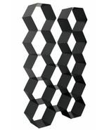 Hexagon Metal Tall Bookcase Cube Large Open Bookshelf Modern Black - $939.93