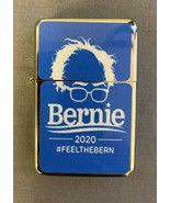Bernie Sanders 2020 D6 Flip Top Oil Lighter Case Cigarette Smoking Windp... - $12.82