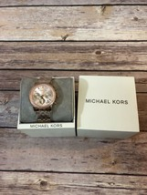 100% New Michael Kors Rose Gold-Tone Stainless Steel Women's Watch 36mm ... - $145.13