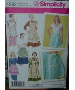 Sewing Pattern 4282 Many Kinds of Aprons, sizes S,M,L - $4.99