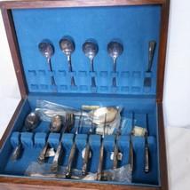 WM Rogers & Son April Silverplate Flatware Set Box 28 Piece Setting Silverware - $249.99