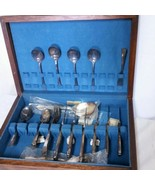 WM Rogers & Son April Silverplate Flatware Set Box 28 Piece Setting Silv... - $249.99