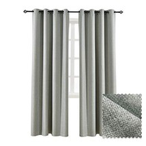 ALLBRIGHT Faux Linen Window Treatment Thermal Insulated Solid Grommet Bl... - $22.42