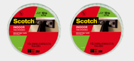 """2 ~ Scotch INDOOR White Mounting Tape Double-Sided 10 lbs 3/4"""" x 350"""" 11... - $26.99"""
