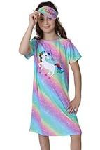 Girls Sleep Shirt Nightgown for Girls Unicorn Mermaid Pajamas (4|Multi) - $27.71