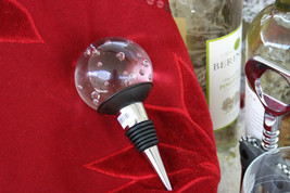 POTTERY BARN GLASS BALL BOTTLE STOPPER - NIB - PERFECT FOR TOPPING THE B... - $29.95