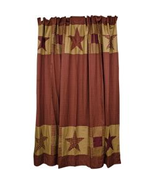 "Ninepatch Shower Curtain  72"" x 72"" Rustic Bathroom  - $47.00"