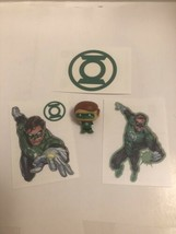 Bundle Justice League Green Lantern 2 Inch Figurine and 3 temporary Tatt... - $8.95