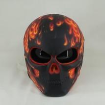 New Arrival Skull Motorcyle Helmet Orange Fire Ghost Rider (Dot & Ece Certified) - $250.00
