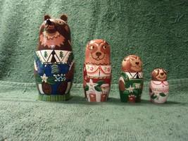"Vintage Nesting Dolls  - Bear Family - 4 Piece -  6"" -  30+ Yrs. Old   L... - $29.70"
