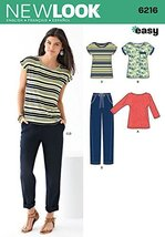 Simplicity New Look Easy Pattern 6216 Misses Knit Tops and Pants Sizes 8... - $11.27