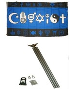 ALBATROS 3 ft x 5 ft Gay Pride Coexist Blue Flag with 6 Ft Aluminum Flag... - $44.44
