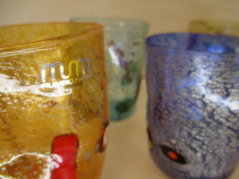 Set of 6 Murano Drinking Glasses - Fruit Goto Tumblers - Mixed Colors - $300.00