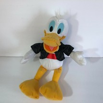 "Donald Duck Plush In Black Tuxedo 14"" Tall CUTE - $9.18"