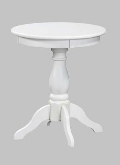 Primary image for White wooden Side round top Accent Table in Victorian Style - Free Shipping