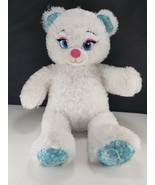 "BABW Build A Bear Frozen Elsa Plush Bear White Stuffed Animal Shiny Fur 16"" - $13.36"