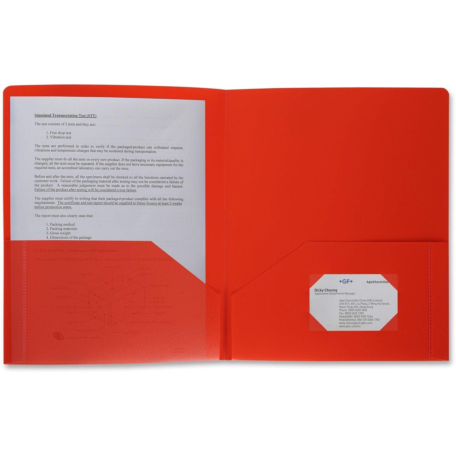 48 Pack Poly Plastic Portfolio School Folder Report Covers