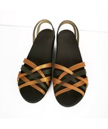 Crocs Sandals Sz 9 W Wedge Brown Neutral Comfort Fancy - $25.00