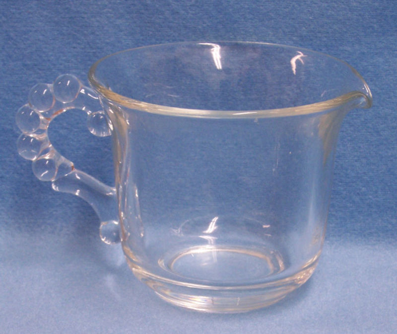 IMPERIAL CANDLEWICK CREAMER AND CLEAR CUP MUG CRYSTAL