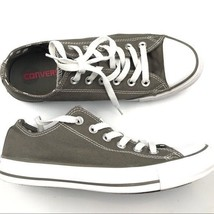 Converse all star Gray low sneakers Chucks Size 8 Lace UP Round Toe - $29.92